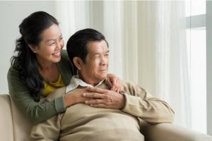 happy sernior couple